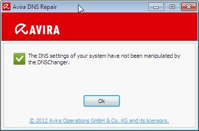 Avira+DNS-repair+tool
